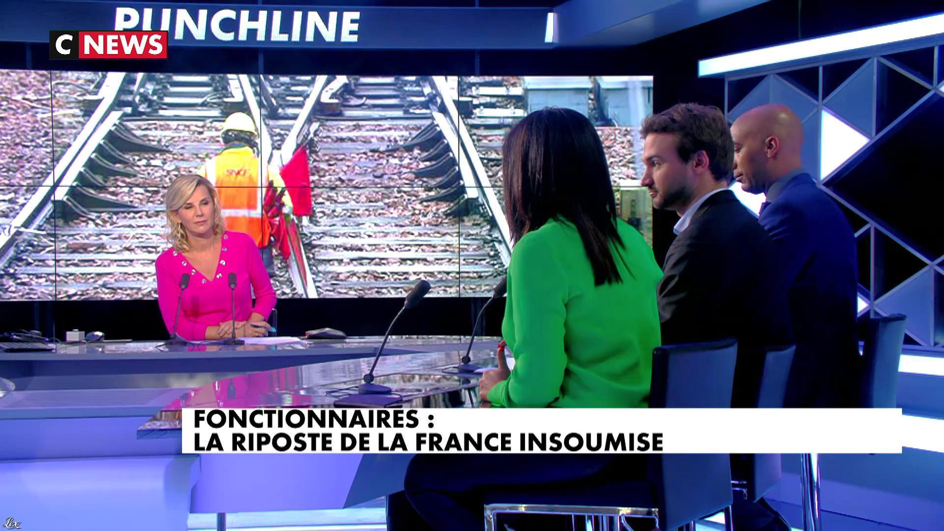Laurence Ferrari et Samia Ghali dans Punchline. Diffusé à la télévision le 06/02/18.