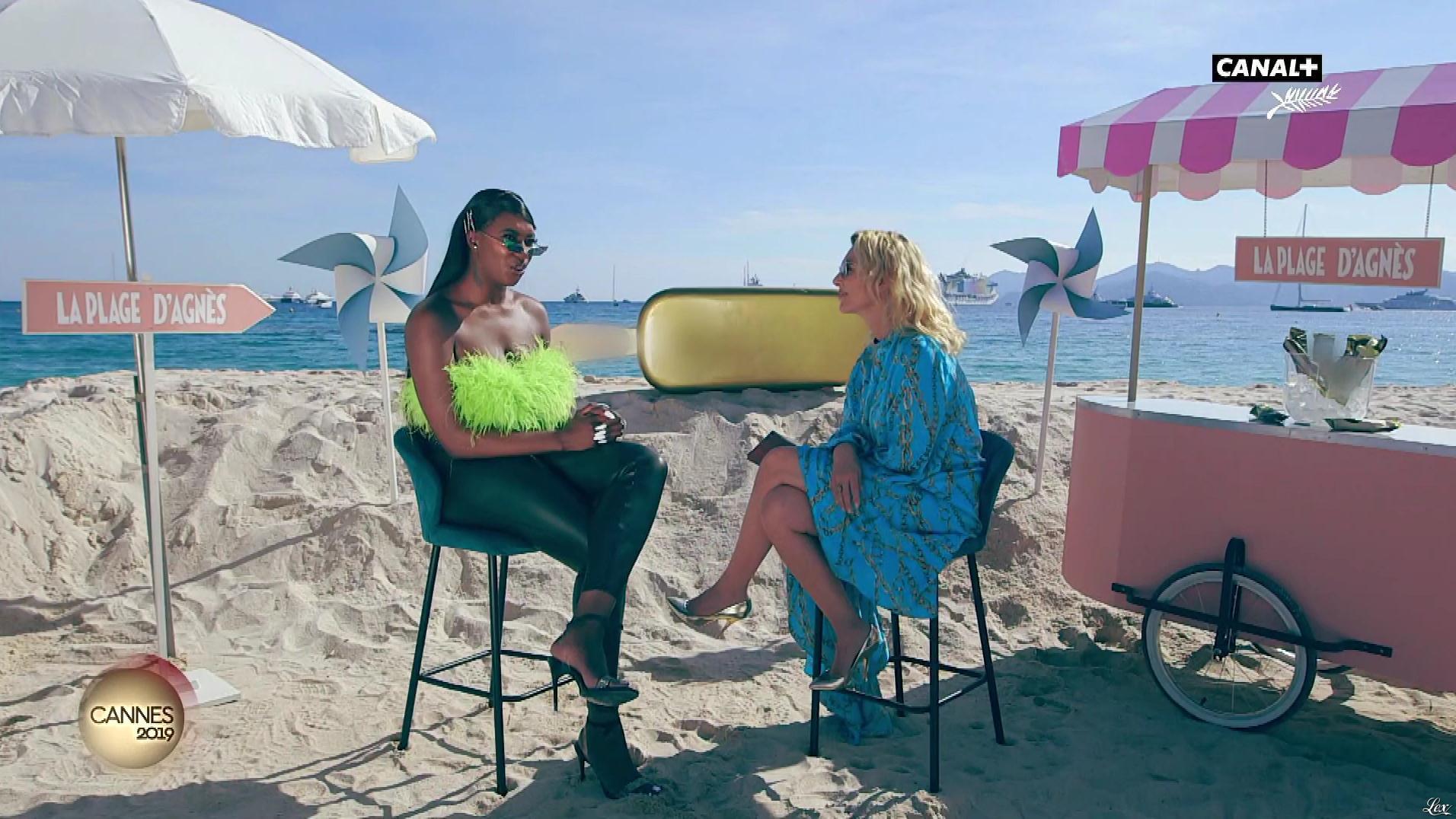 Mademoiselle Agnès et Aya Nakamura dans la Plage d'Agnes. Diffusé à la télévision le 17/05/19.