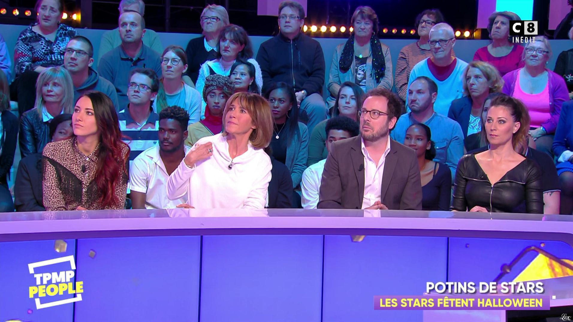 Magali Berdah dans Touche pas à mon Poste People. Diffusé à la télévision le 02/11/18.