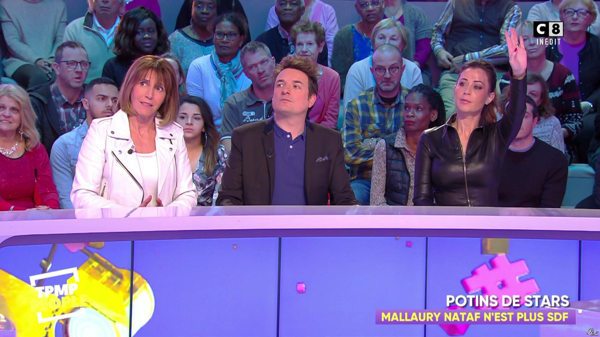 Magali Berdah dans Touche pas à mon Poste People. Diffusé à la télévision le 11/01/19.