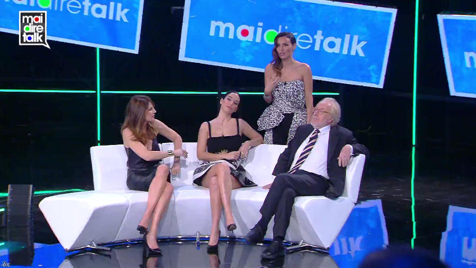 Marina la Rosa dans Mai Dire Talk. Diffusé à la télévision le 06/12/18.