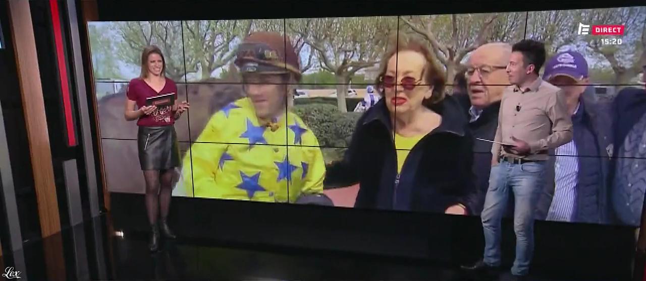 Marine Costabadie dans le Grand Direct. Diffusé à la télévision le 05/04/19.