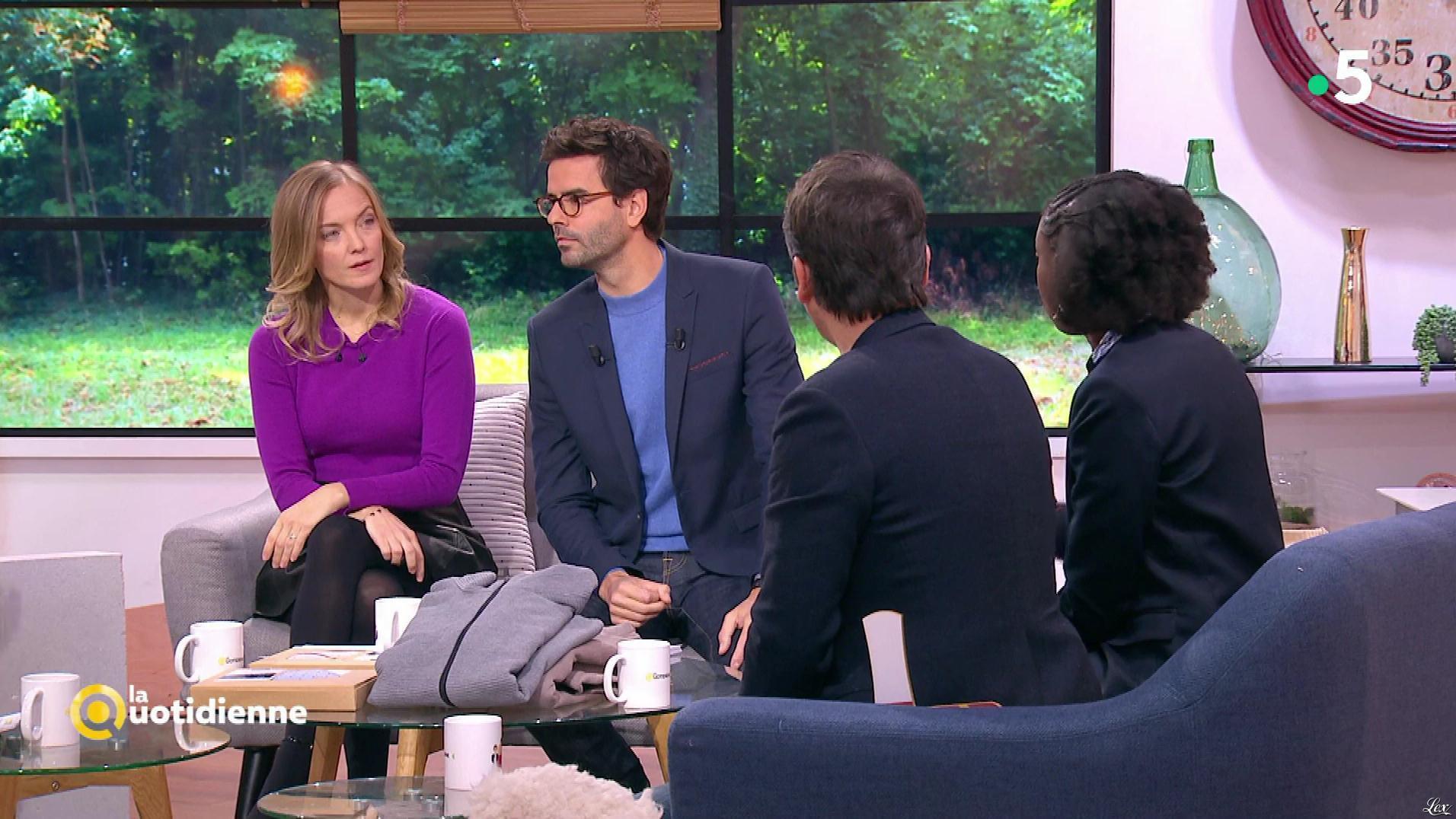 Maya Lauqué dans la Quotidienne. Diffusé à la télévision le 27/11/18.