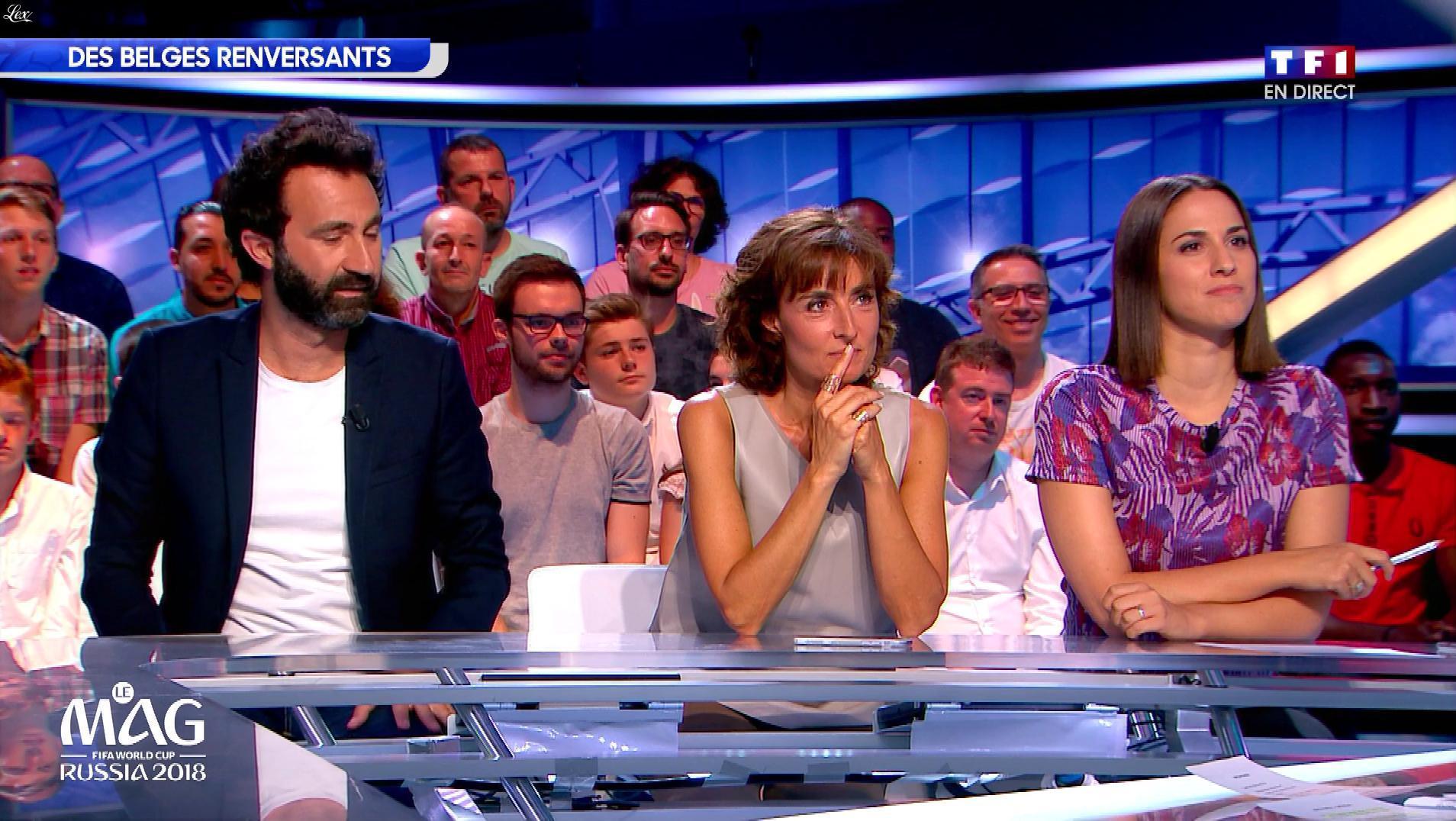 Nathalie Iannetta dans le Mag de la Coupe du Monde. Diffusé à la télévision le 02/07/18.