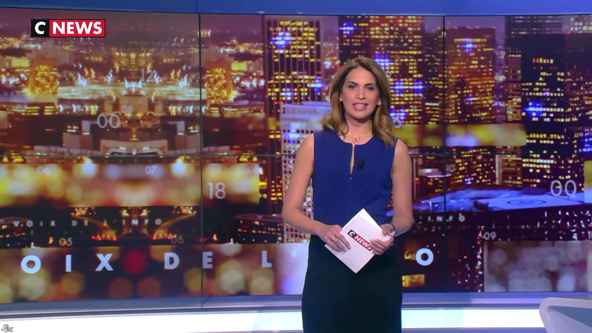 Sonia Mabrouk dans les Voix de l'Info. Diffusé à la télévision le 12/03/19.
