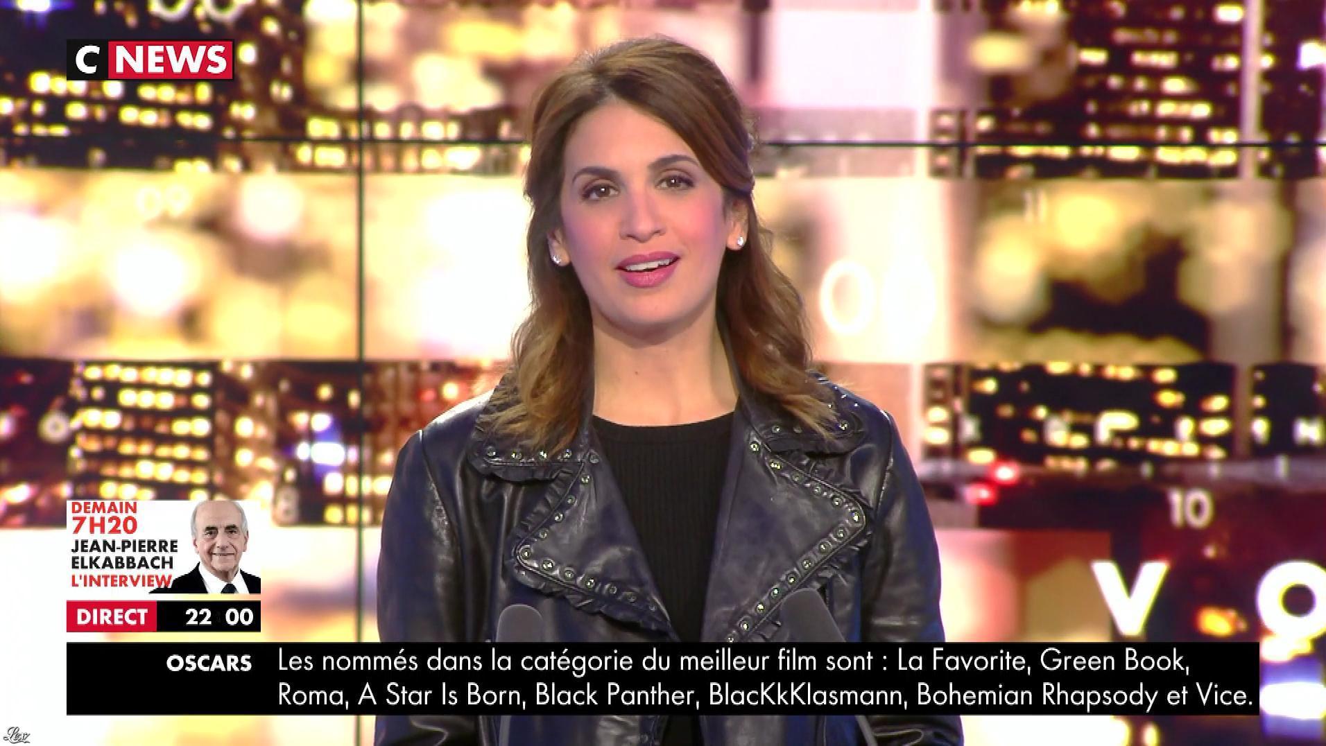 Sonia Mabrouk dans les Voix de l'Info. Diffusé à la télévision le 22/01/19.