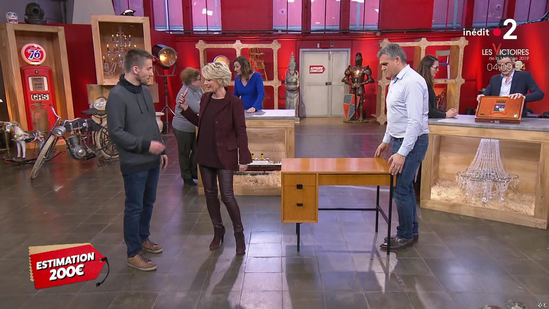 Sophie Davant dans Affaire Conclue. Diffusé à la télévision le 08/02/19.