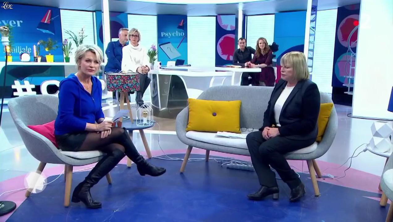 Sophie Davant dans c'est au Programme. Diffusé à la télévision le 24/01/19.
