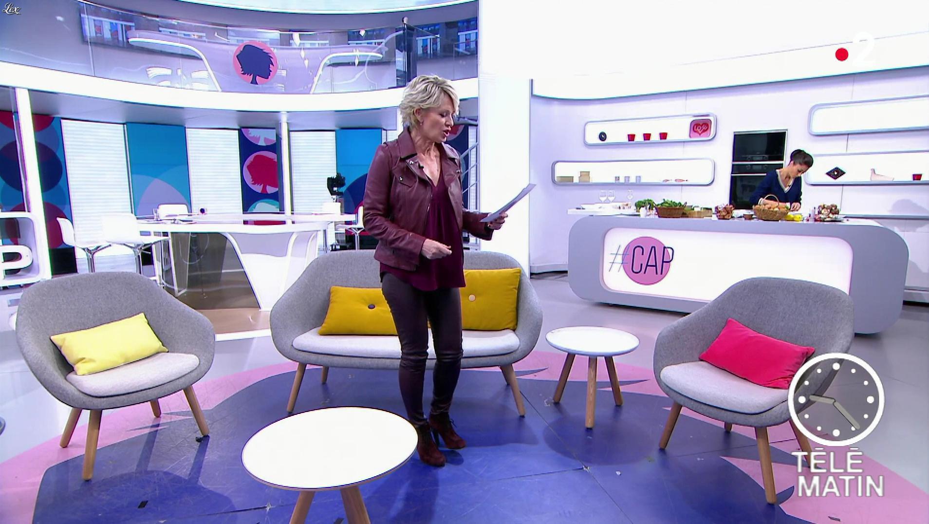 Sophie Davant dans Télématin. Diffusé à la télévision le 13/03/19.