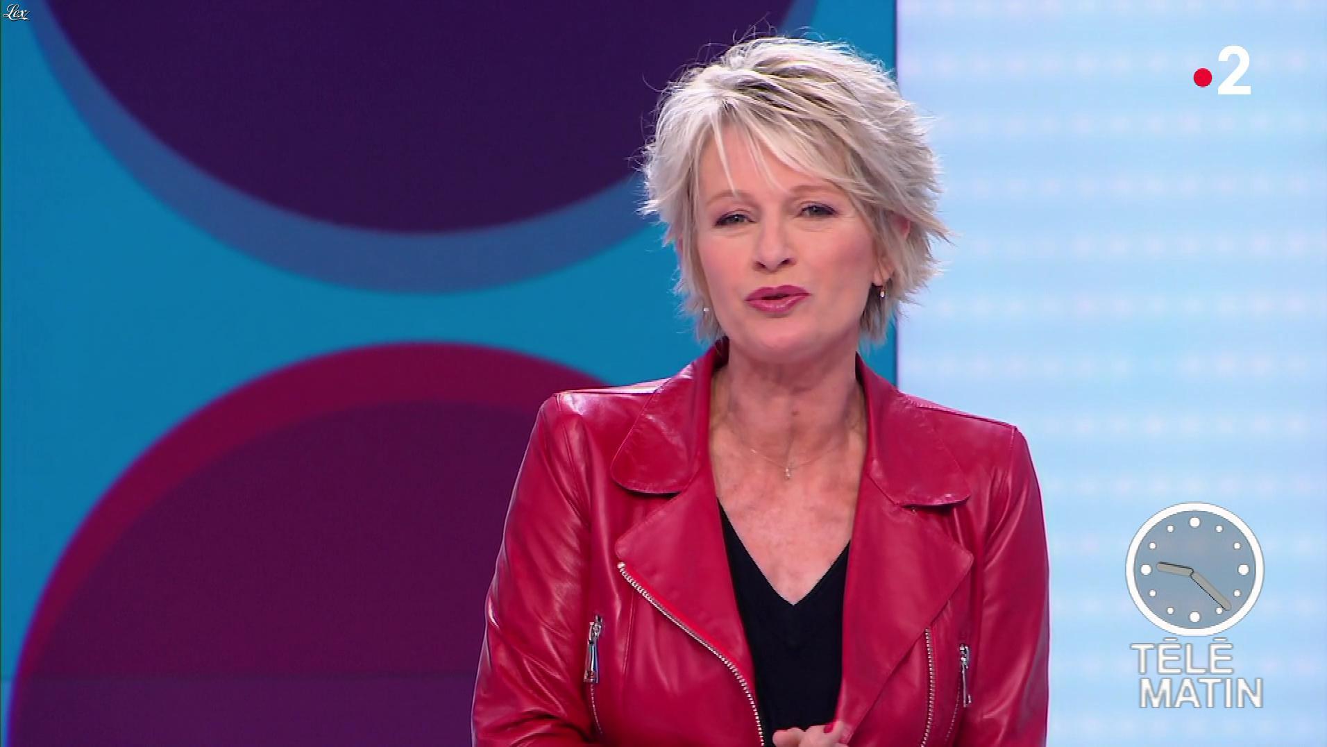 Sophie Davant dans Télématin. Diffusé à la télévision le 13/05/19.