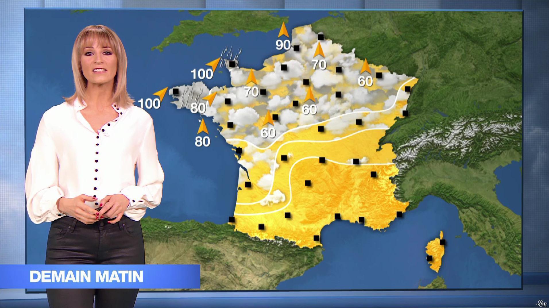 Stéphanie Duval à la Météo. Diffusé à la télévision le 11/03/19.