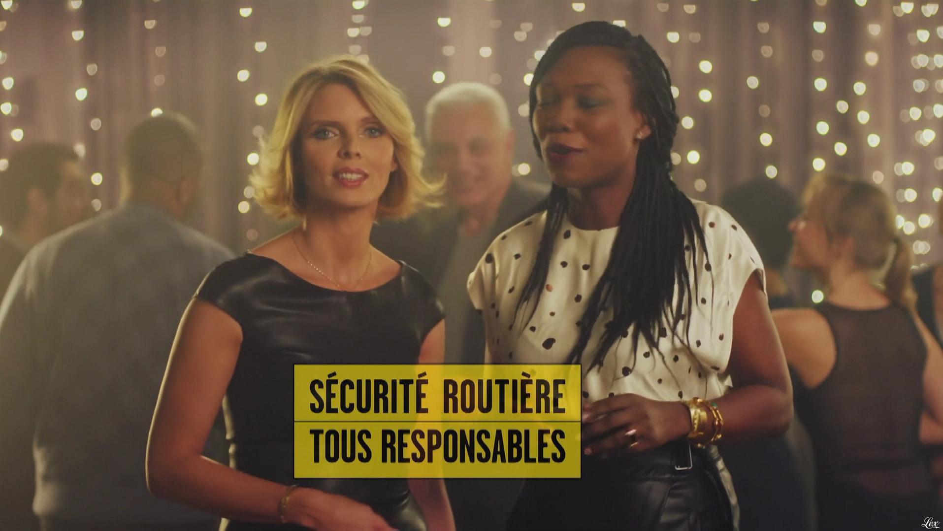 Sylvie Tellier et Kareen Guiock dans un Spot pour la Sécurité Routière. Diffusé à la télévision le 23/12/18.