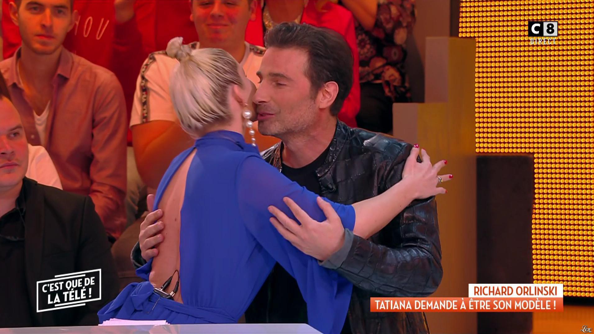 Tatiana Laurens Delarue dans c'est Que de la Télé. Diffusé à la télévision le 10/01/19.