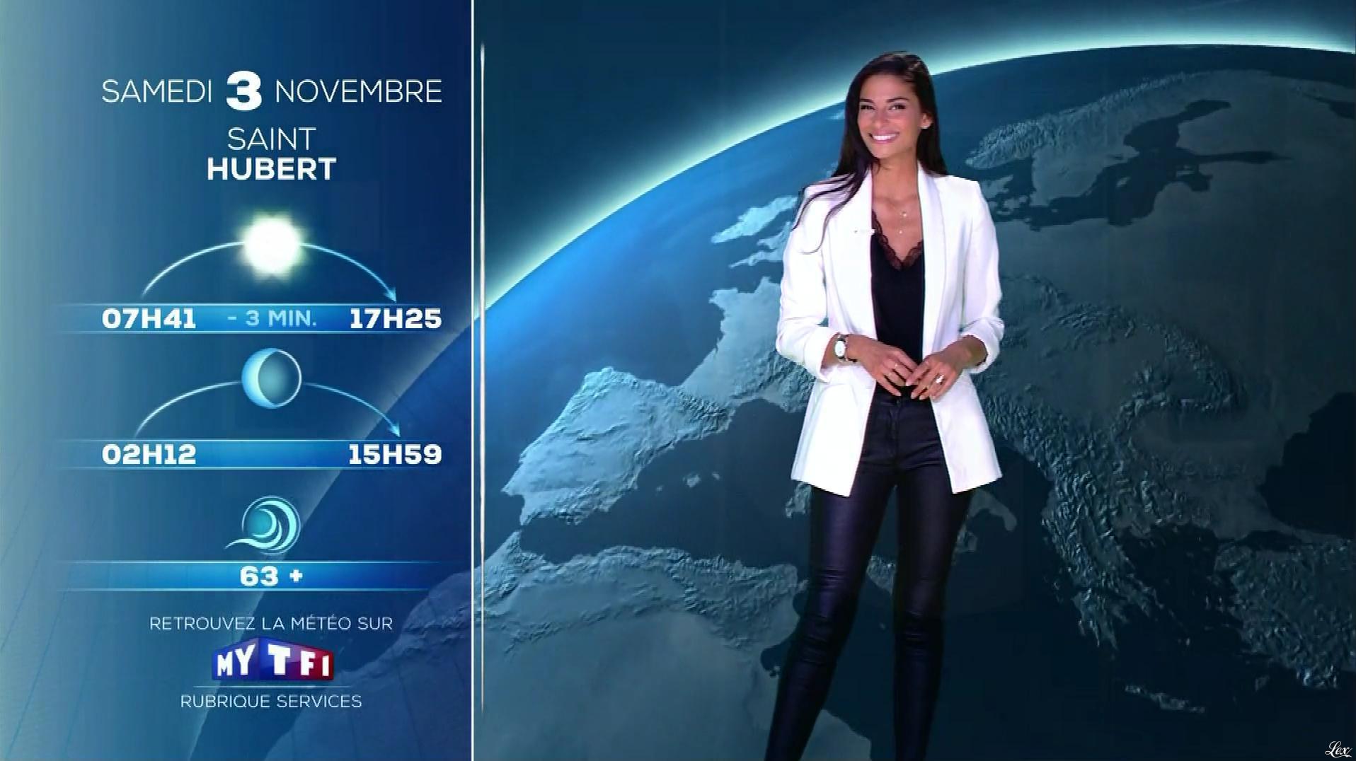 Tatiana Silva à la Météo du Soir. Diffusé à la télévision le 02/11/18.