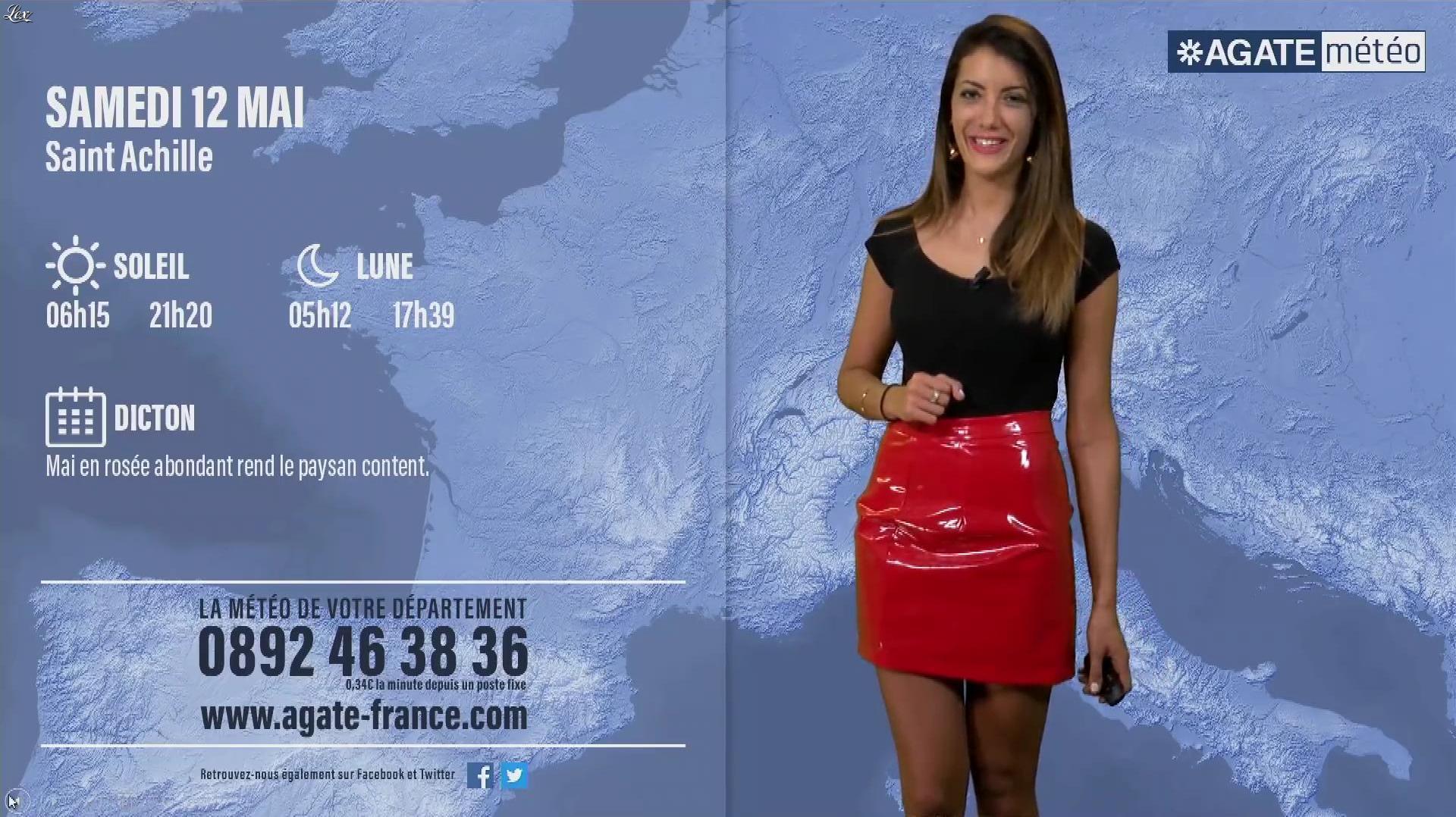 Virgilia Hess dans Agate Meteo. Diffusé à la télévision le 11/05/18.