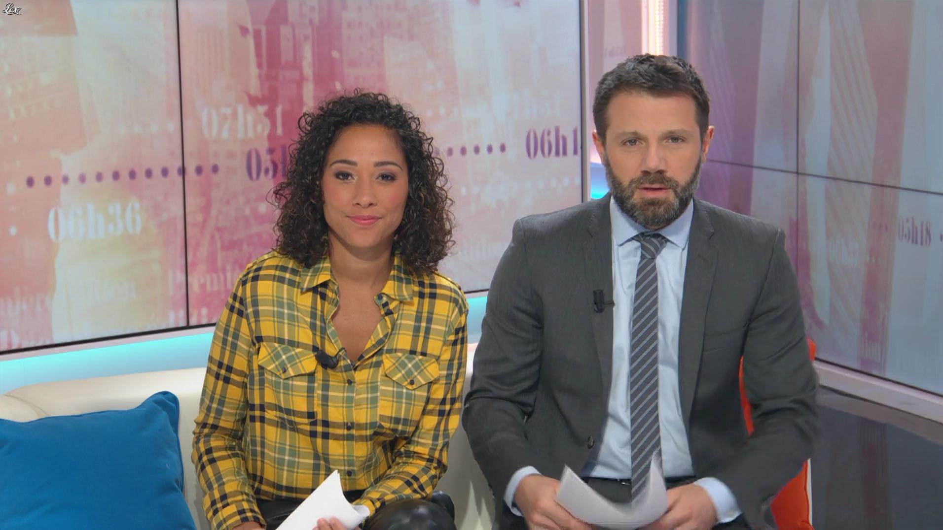 Virginie Sainsily dans Première Edition. Diffusé à la télévision le 07/03/19.