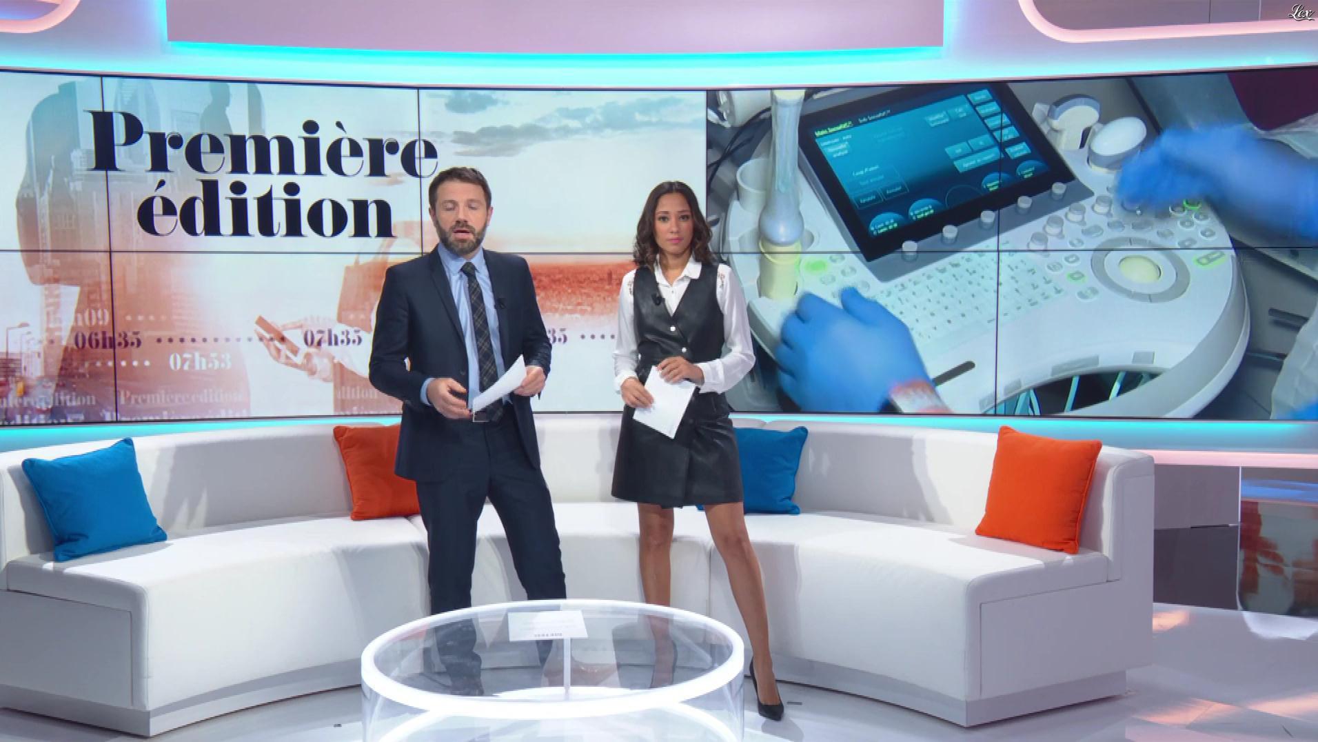 Virginie Sainsily dans Première Edition. Diffusé à la télévision le 09/11/18.