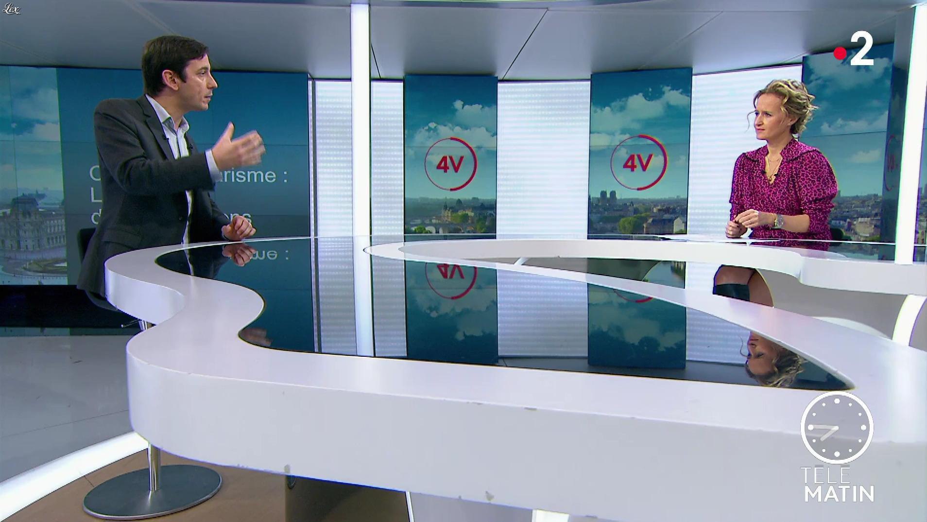 Caroline Roux dans les 4 Vérités. Diffusé à la télévision le 28/01/20.