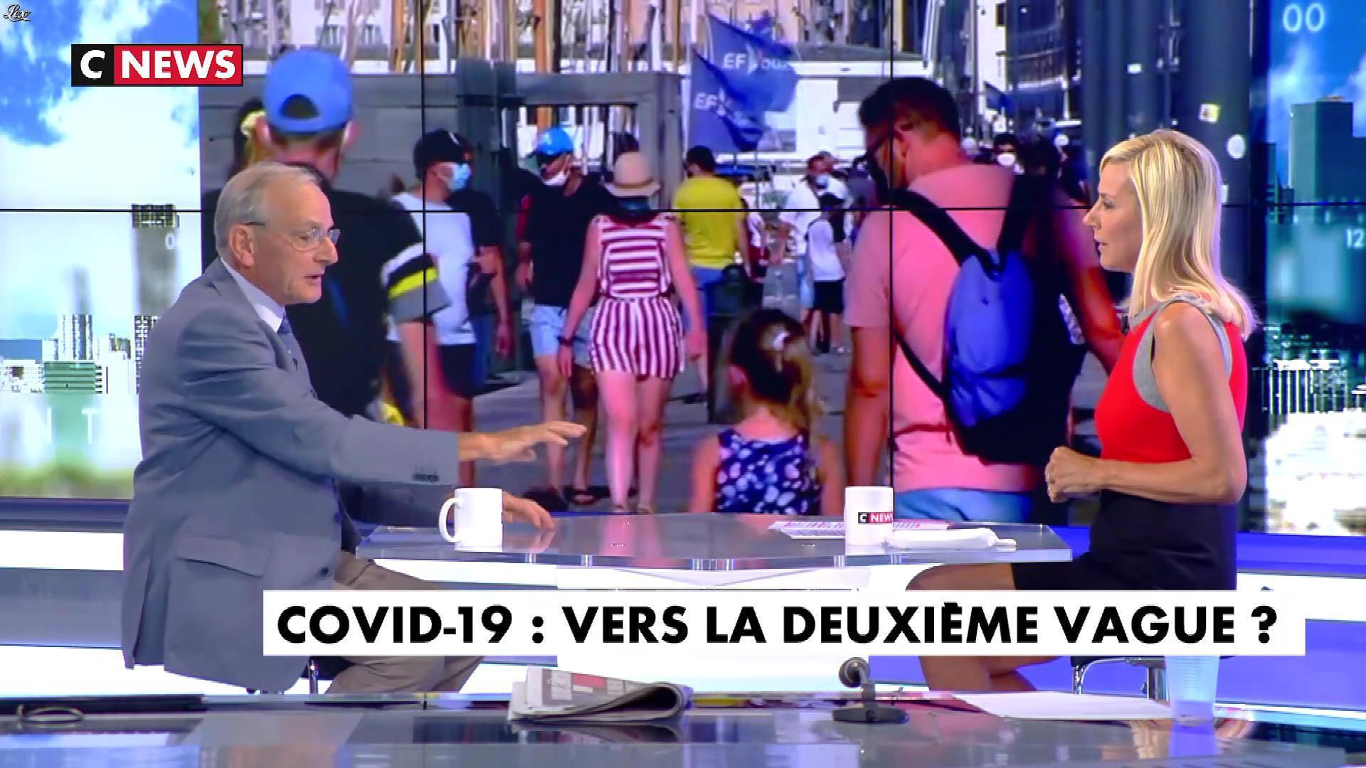 Laurence Ferrari dans l'interview de Laurence Ferrari. Diffusé à la télévision le 26/08/20.