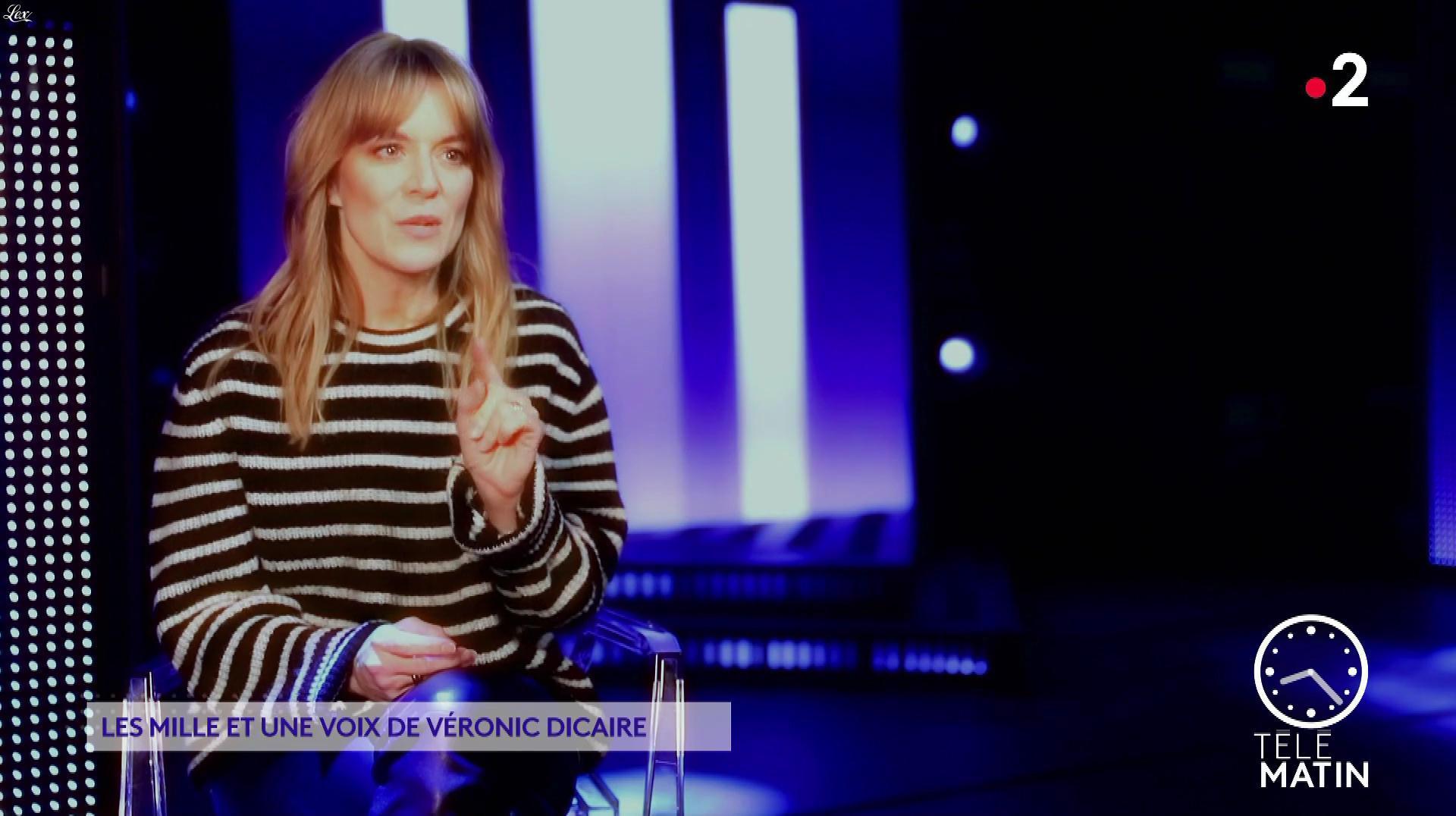 Véronic Dicaire dans Télématin. Diffusé à la télévision le 28/01/20.