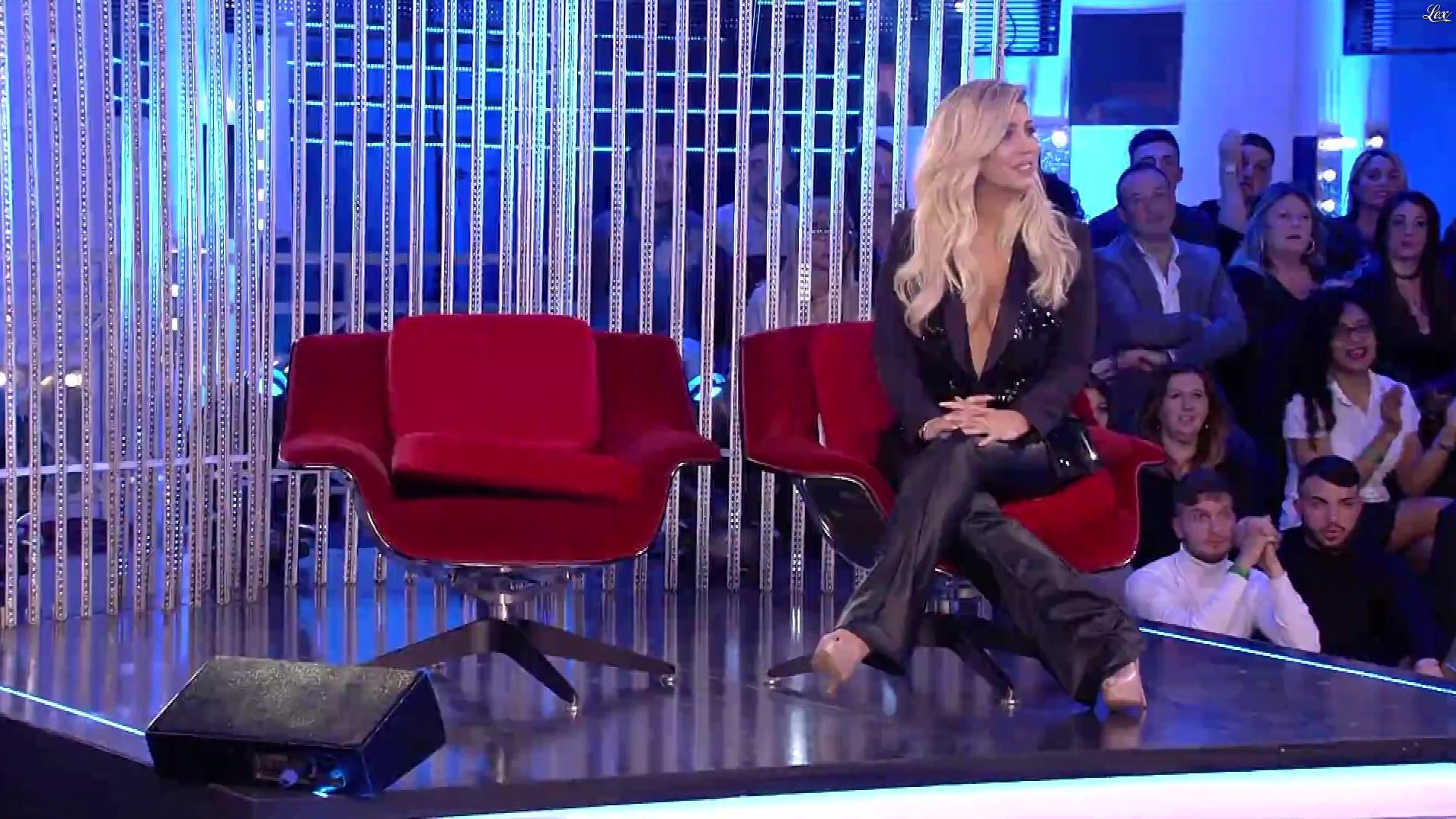 Wanda Nara dans Grande Fratello. Diffusé à la télévision le 03/02/20.