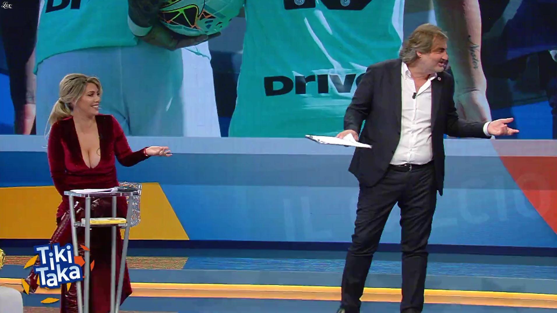 Wanda Nara dans Tiki Taka. Diffusé à la télévision le 20/10/19.