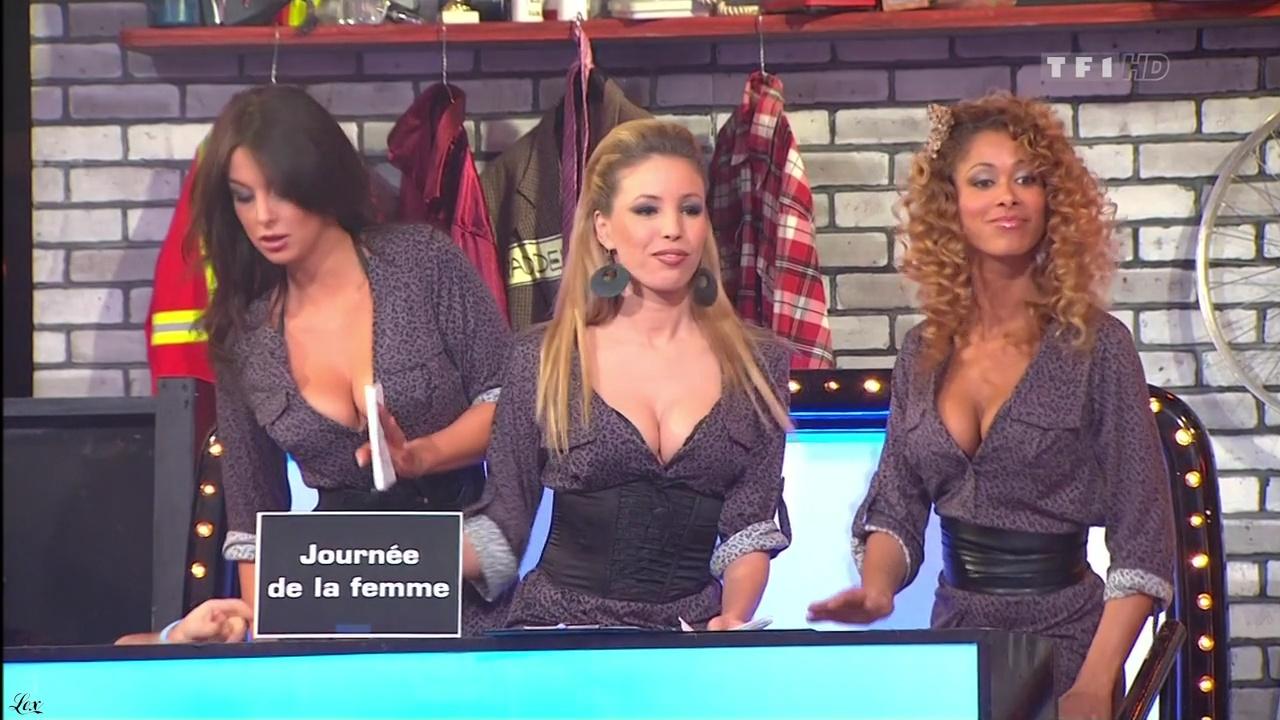 Les Gafettes, Fanny Veyrac, Nadia Aydanne et Doris Rouesne dans le Juste Prix. Diffusé à la télévision le 09/03/11.