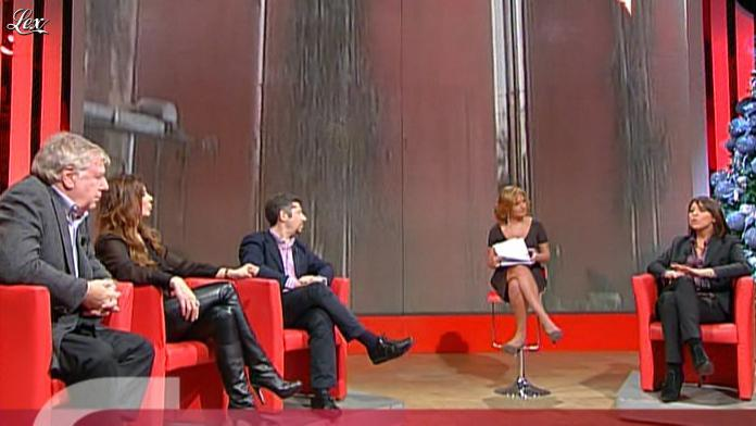 Alba Parietti dans Il Fatto Del Giorno. Diffusé à la télévision le 08/01/10.