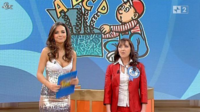 Laura Barriales dans Mezzogiorno in Famiglia. Diffusé à la télévision le 05/12/10.