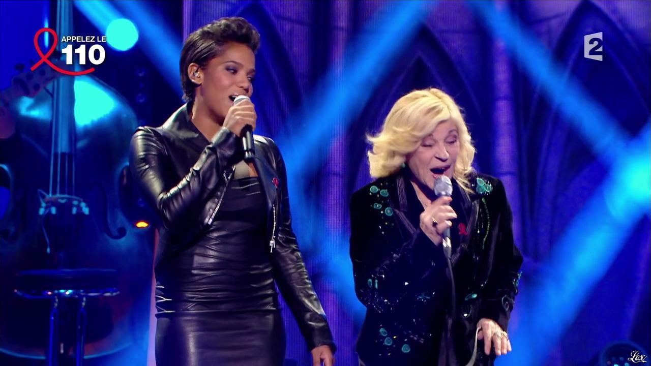 Audrey Chauveau dans Toute la Télé Chante Pour le Sidaction. Diffusé à la télévision le 06/04/13.