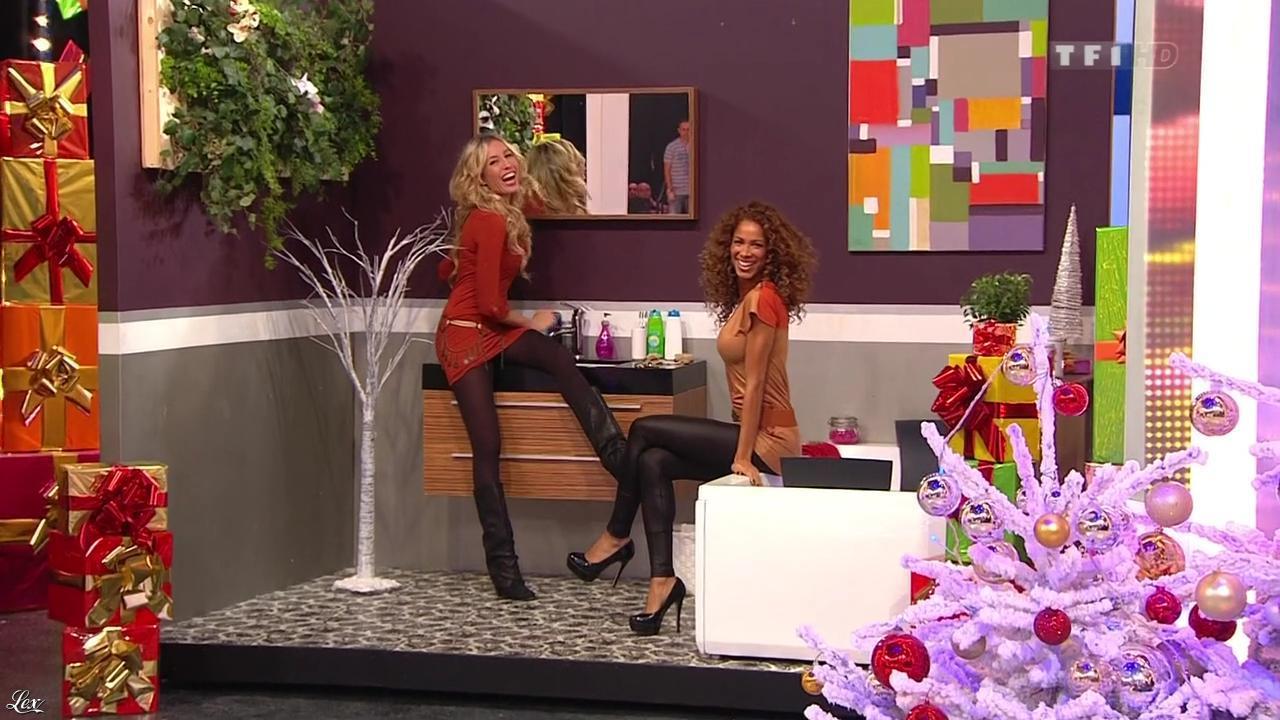 Les Gafettes, Doris Rouesne et Nadia Aydanne dans le Juste Prix. Diffusé à la télévision le 02/01/13.