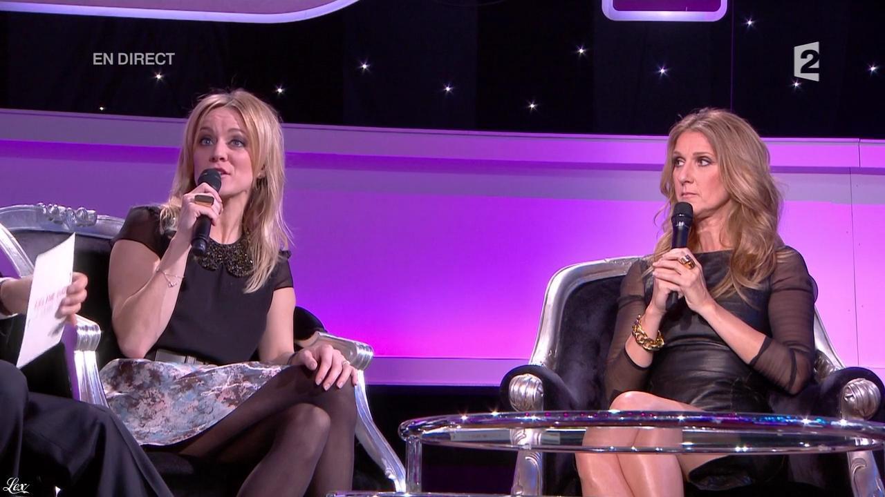 Céline Dion et Véronic Dicaire dans le Grand Show. Diffusé à la télévision le 24/11/12.