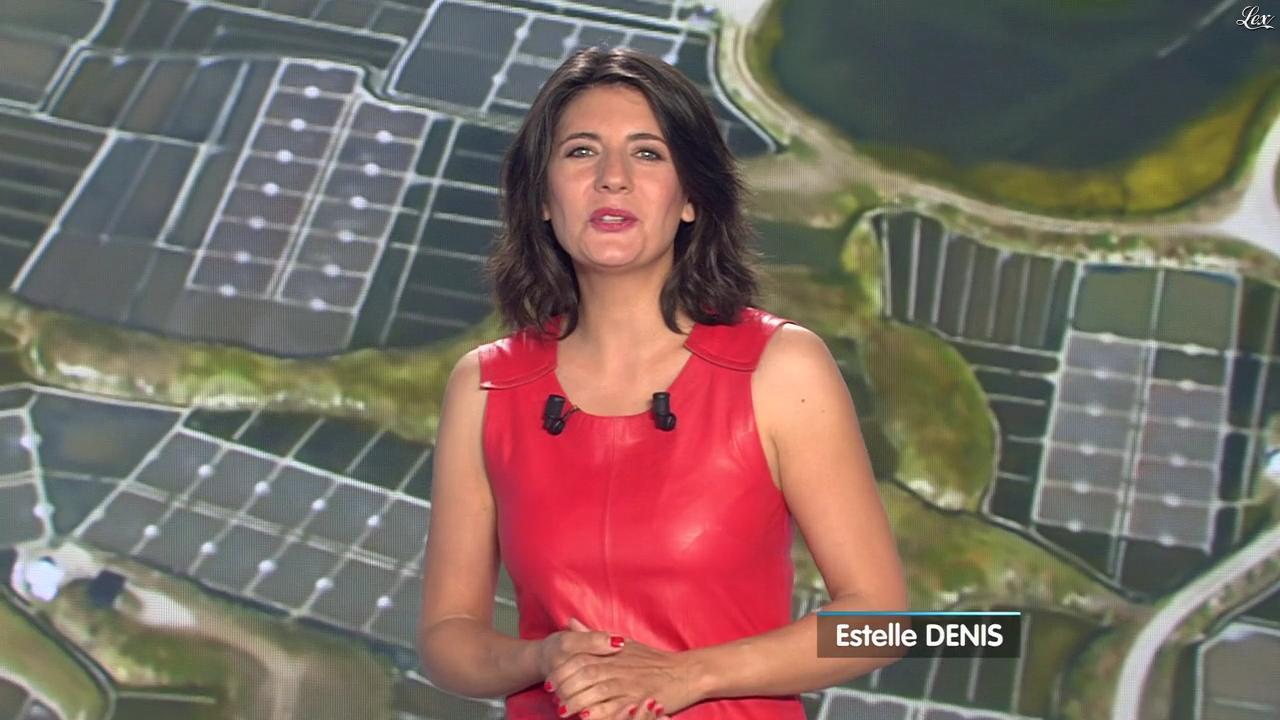 Estelle Denis lors du Tirage du Loto. Diffusé à la télévision le 02/04/14.