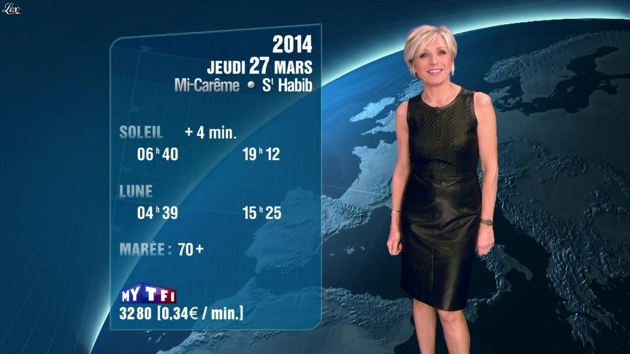 Evelyne Dhéliat à la Météo de 20h. Diffusé à la télévision le 26/03/14.