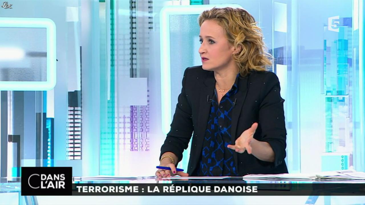 Caroline Roux dans C dans l'Air. Diffusé à la télévision le 16/02/15.