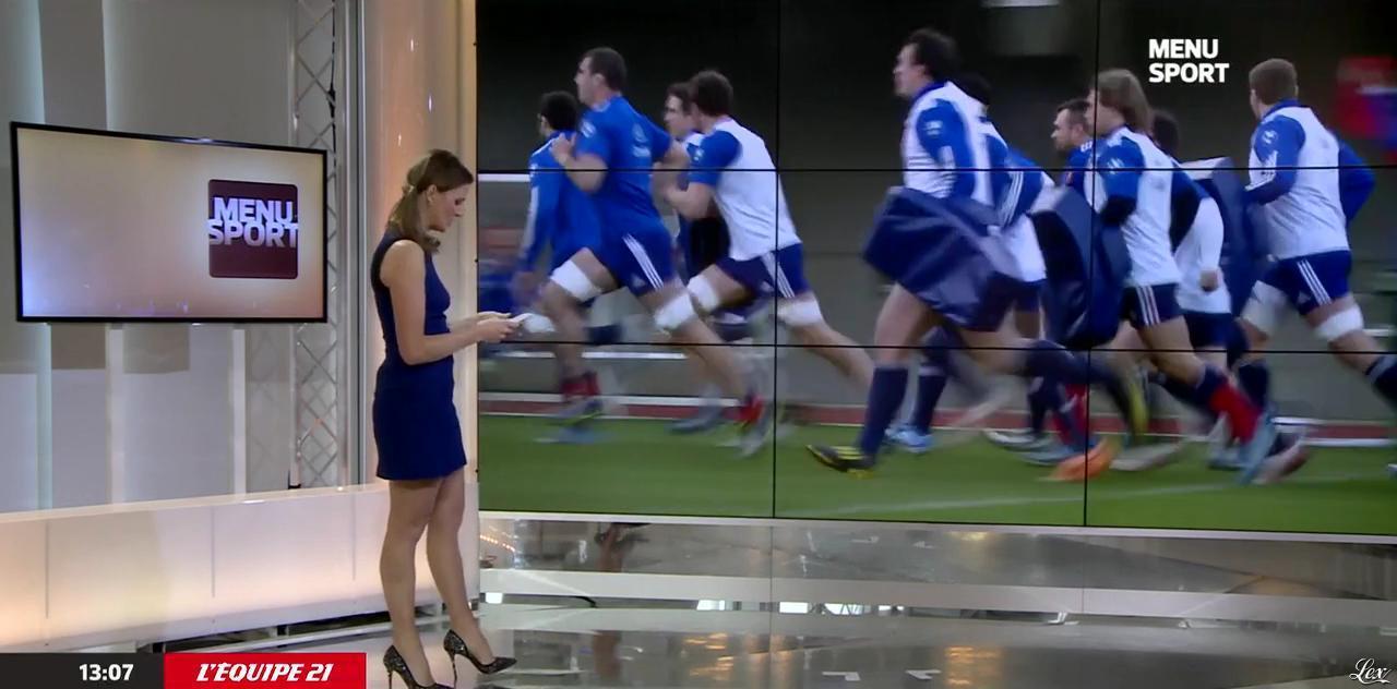 France Pierron dans Menu Sport. Diffusé à la télévision le 02/02/15.