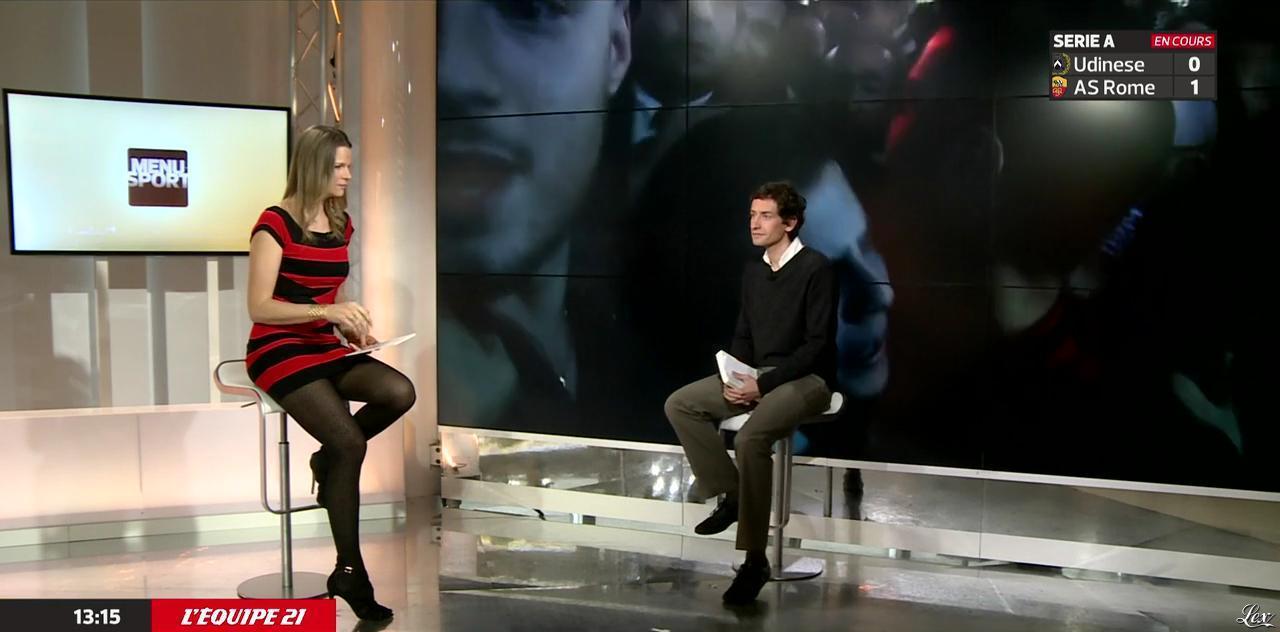 France Pierron dans Menu Sport. Diffusé à la télévision le 06/01/15.