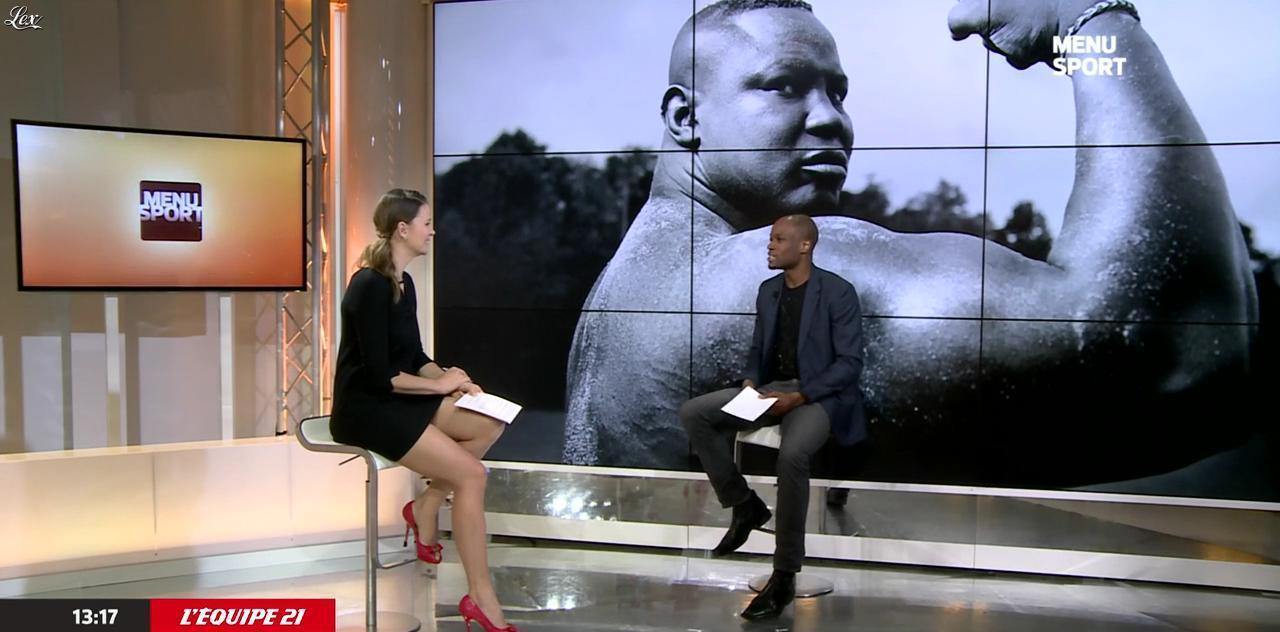 France Pierron dans Menu Sport. Diffusé à la télévision le 17/02/15.
