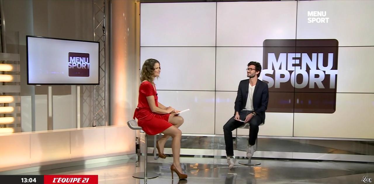 France Pierron dans Menu Sport. Diffusé à la télévision le 29/01/15.