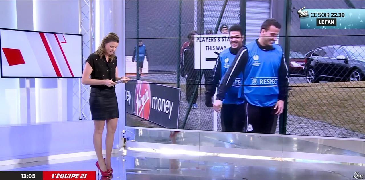 France Pierron dans Menu Sport. Diffusé à la télévision le 30/12/14.