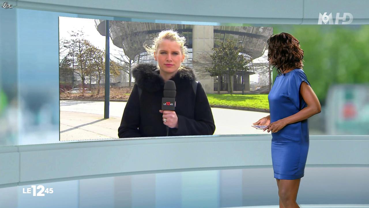 Kareen Guiock dans le 12-45. Diffusé à la télévision le 16/03/15.