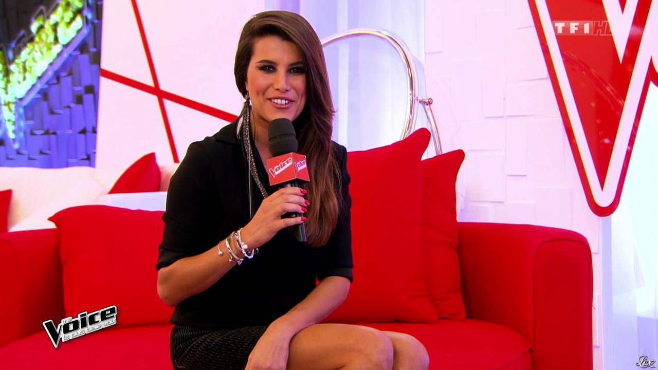 Karine Ferri dans The Voice. Diffusé à la télévision le 14/02/15.