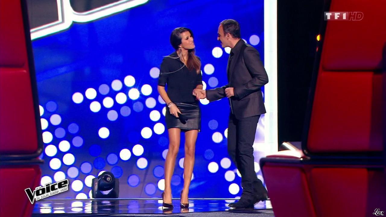Karine Ferri dans The Voice. Diffusé à la télévision le 17/01/15.