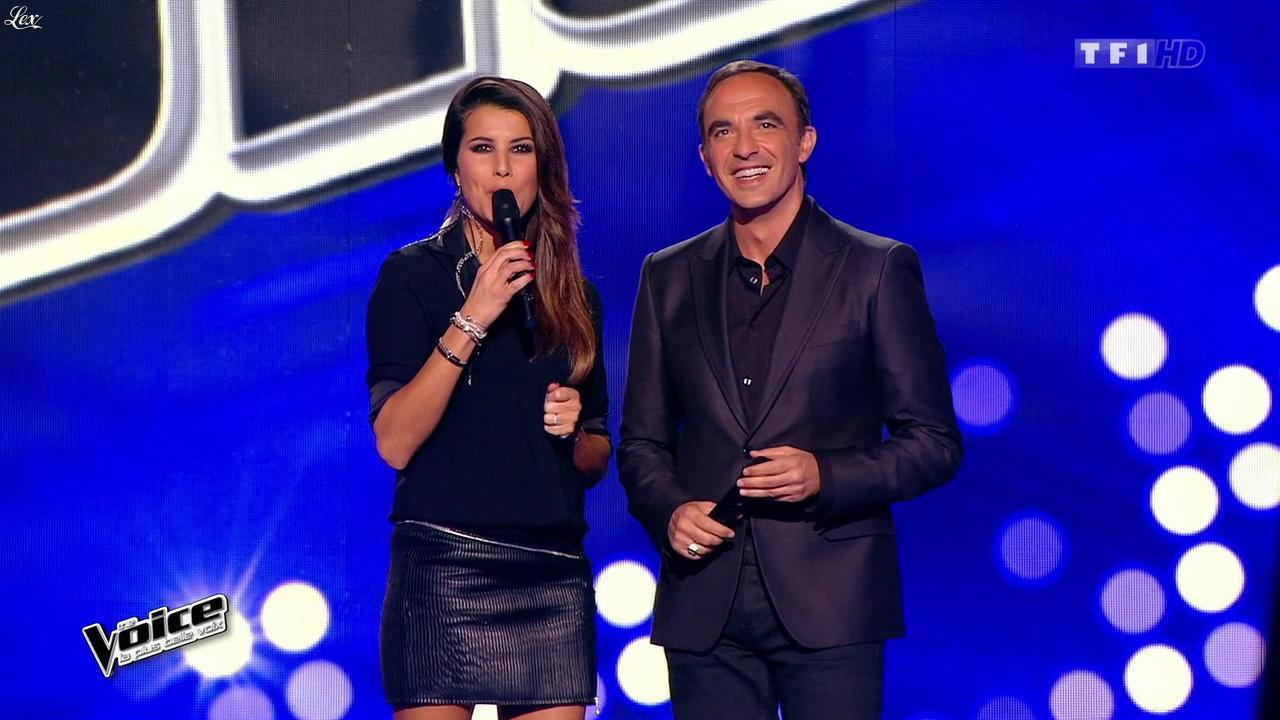 Karine Ferri dans The Voice. Diffusé à la télévision le 31/01/15.