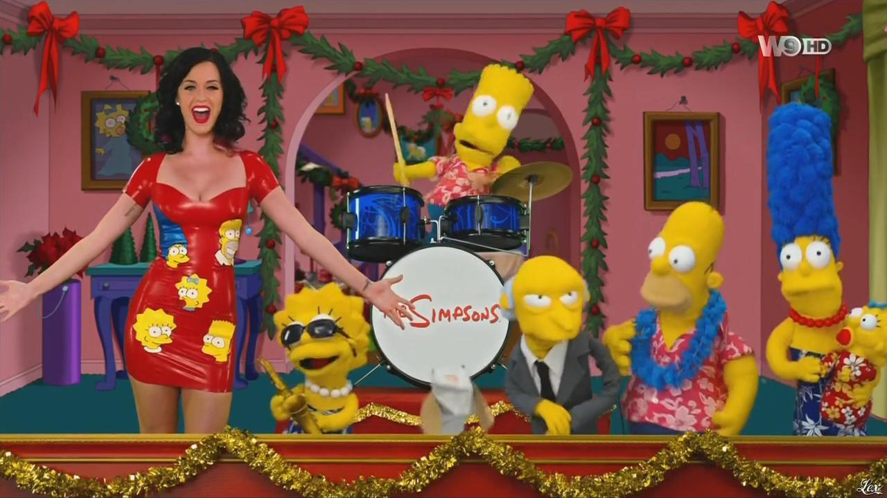Katy Perry dans les Simpsons. Diffusé à la télévision le 20/12/14.
