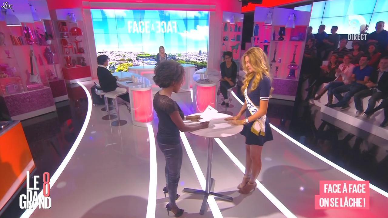 Laurence Ferrari, Hapsatou Sy, Audrey Pulvar et Camille Cerf dans le Grand 8. Diffusé à la télévision le 05/01/15.
