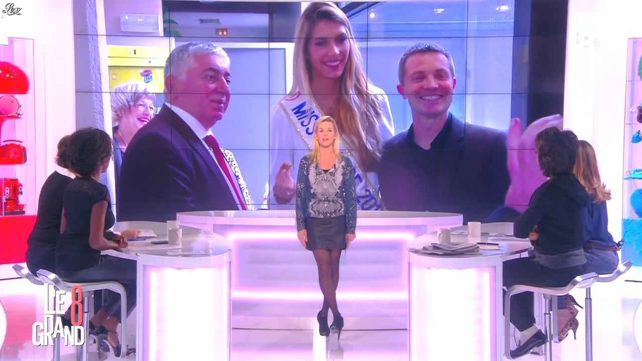 Laurence Ferrari, Hapsatou Sy et Audrey Pulvar dans le Grand 8. Diffusé à la télévision le 05/01/15.