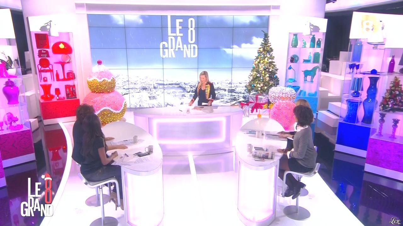Laurence Ferrari, Hapsatou Sy et Audrey Pulvar dans le Grand 8. Diffusé à la télévision le 17/12/14.