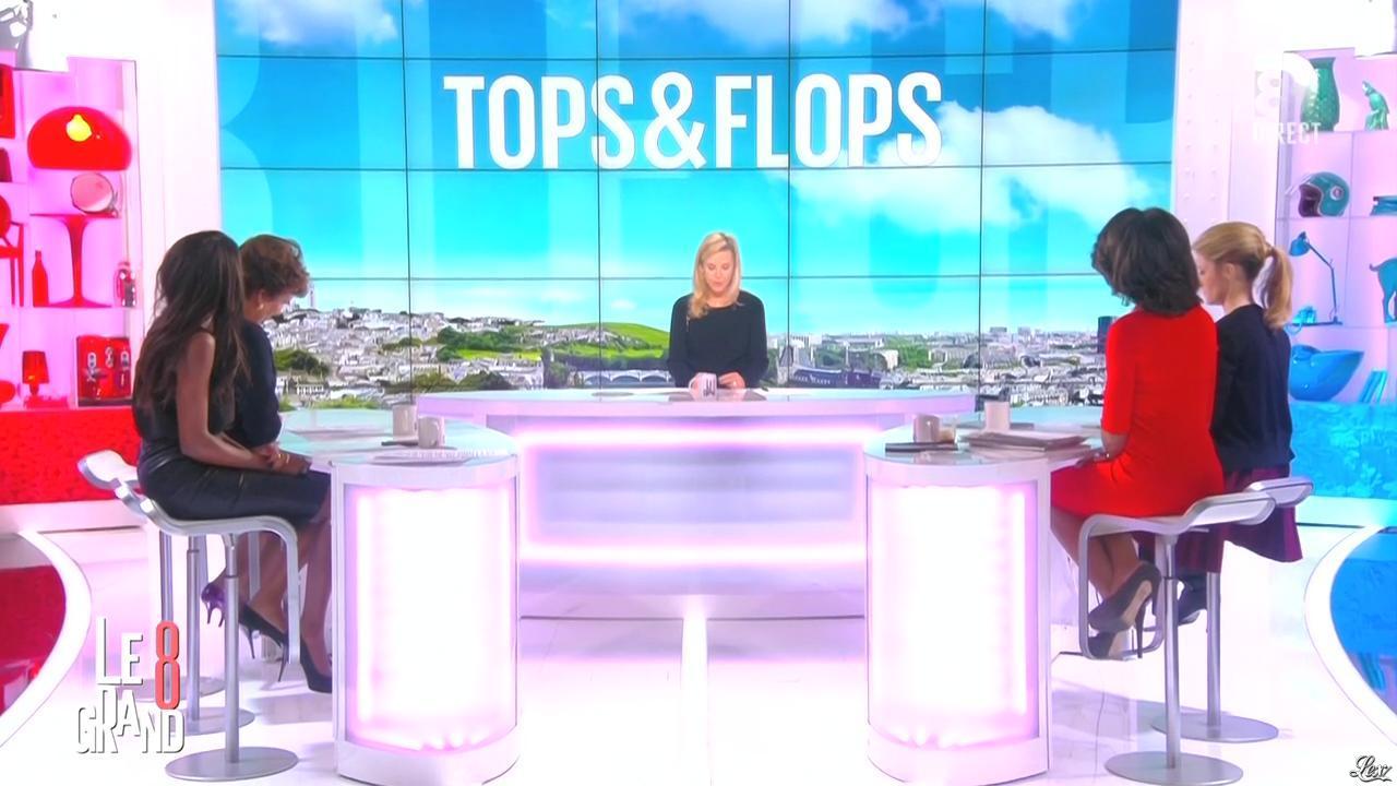 Laurence Ferrari, Hapsatou Sy et Audrey Pulvar dans le Grand 8. Diffusé à la télévision le 25/11/14.