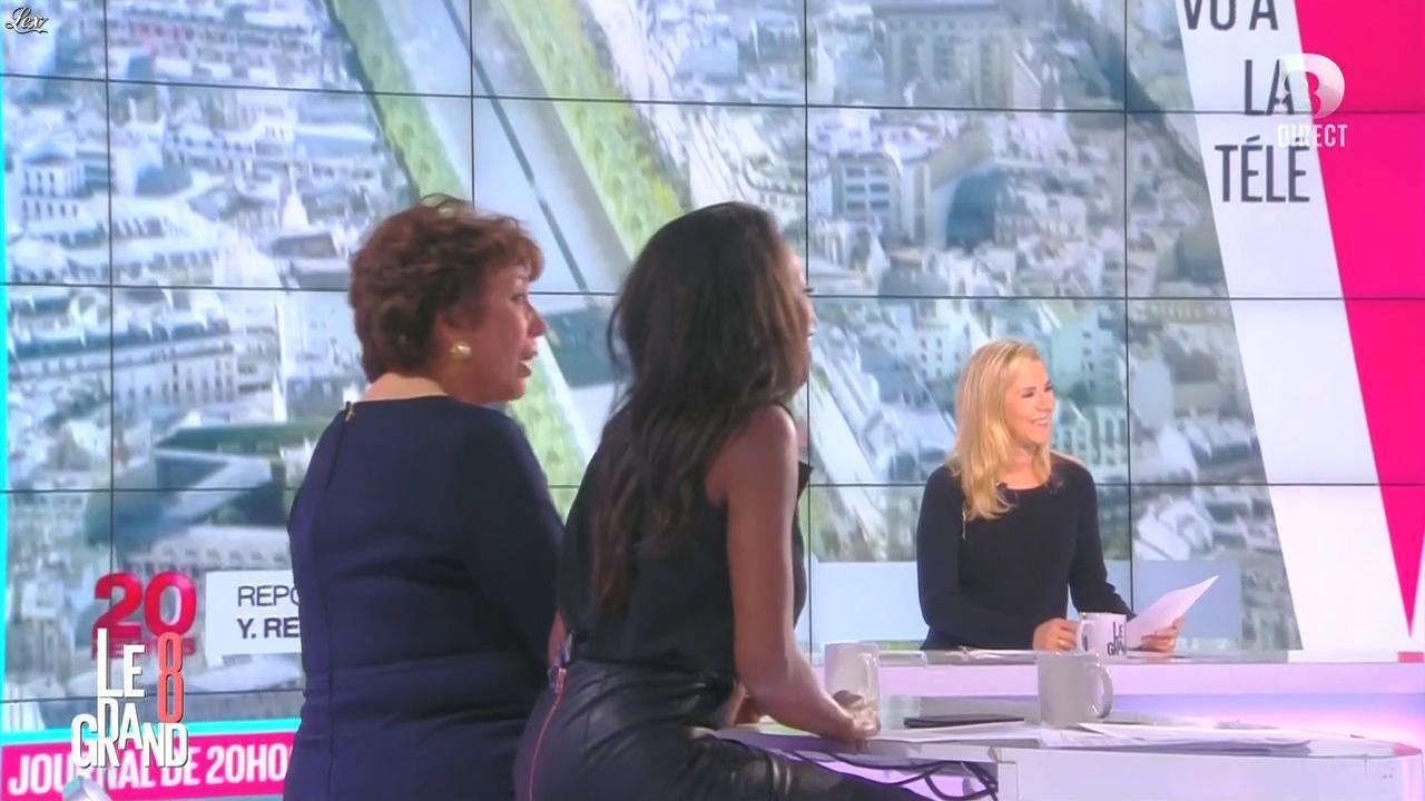 Laurence Ferrari et Hapsatou Sy dans le Grand 8. Diffusé à la télévision le 25/11/14.
